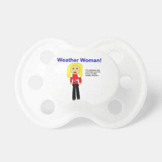 Weather Woman Superhero 0-6 months Pacifier