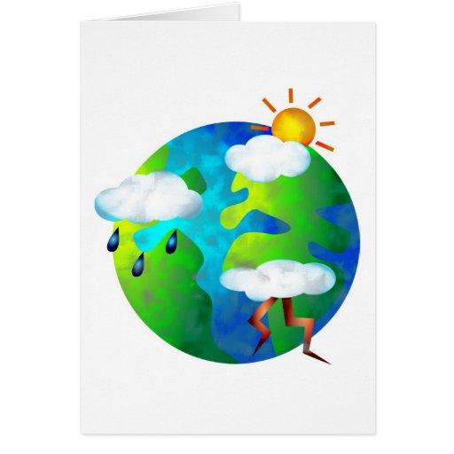 Weather World Greeting Card