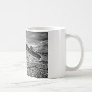 Weather worn Lancashire fishing boats Coffee Mug