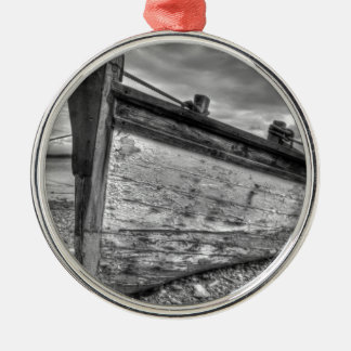 Weather worn Lancashire fishing boats Metal Ornament