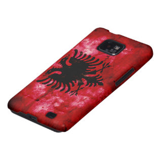 Weathered Albania Flag Galaxy S2 Cover