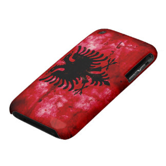 Weathered Albania Flag Case-Mate iPhone 3 Case