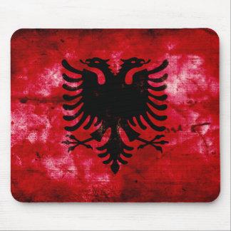 Weathered Albania Flag Mouse Pad
