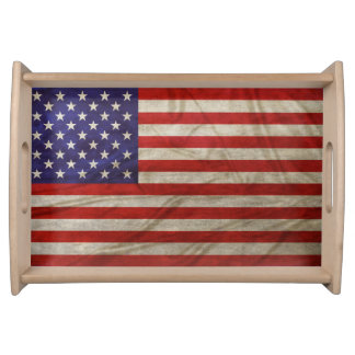 Weathered American Flag Serving Tray