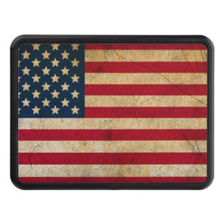 Weathered American Flag Trailer Hitch Covers
