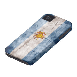 Weathered Argentina Flag iPhone 4 Case-Mate Case