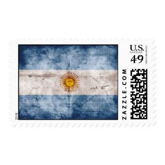 Weathered Argentina Flag Postage