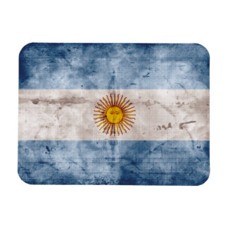 Weathered Argentina Flag Rectangular Photo Magnet