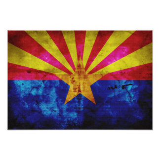 Weathered Arizona Flag Poster