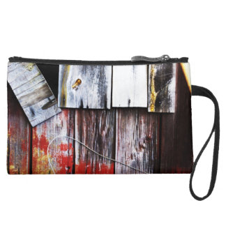Weathered Barn Wristlet Clutch