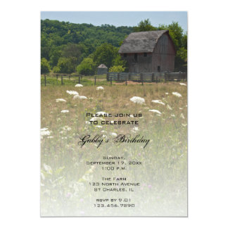 Weathered Barn Country Birthday Party Invitation