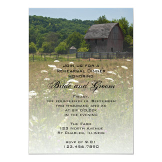 Weathered Barn Country Rehearsal Dinner Invitation