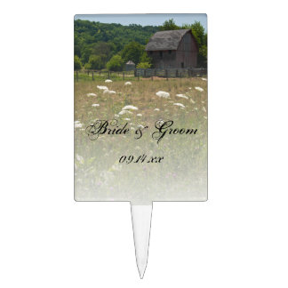 Weathered Barn Country Wedding Cake Topper