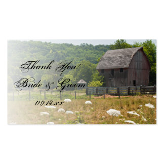 Weathered Barn Country Wedding Favor Tags Business Card