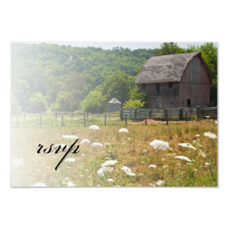 Weathered Barn Country Wedding RSVP Response Card