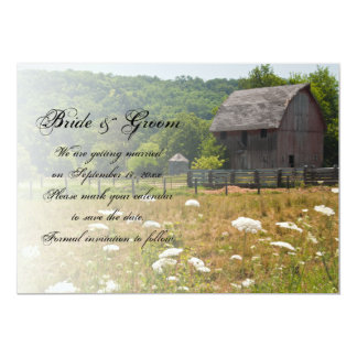 Weathered Barn Country Wedding Save the Date Card