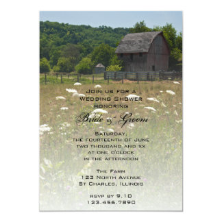 Weathered Barn Country Wedding Shower Invitation
