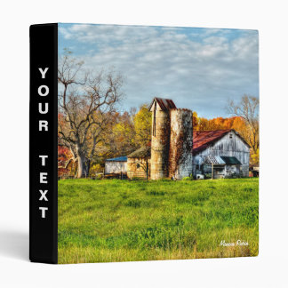 Weathered Barn in Autumn Vinyl Binders