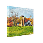 Weathered Barn in Autumn Canvas Prints