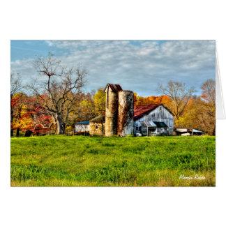 Weathered Barn in Autumn Card