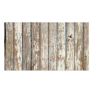 Weathered Barn Wood Business Card