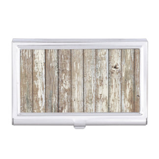 Weathered Barn Wood Business Card Case