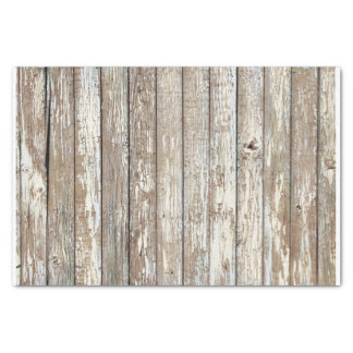 "Weathered Barn Wood 10"" X 15"" Tissue Paper"