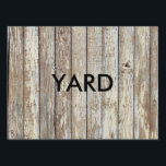 """Weathered Barn Wood Lawn Sign<br><div class=""""desc"""">Weathered Barn Wood</div>"""