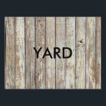 "Weathered Barn Wood Lawn Sign<br><div class=""desc"">Weathered Barn Wood</div>"