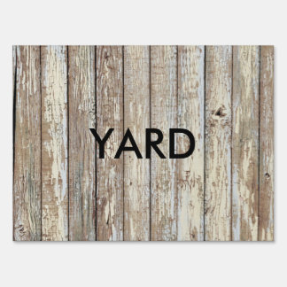 Weathered Barn Wood Lawn Sign