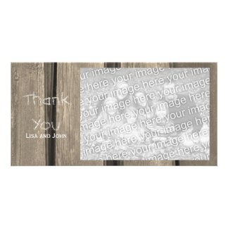 Weathered Barn Wood Thank You Card
