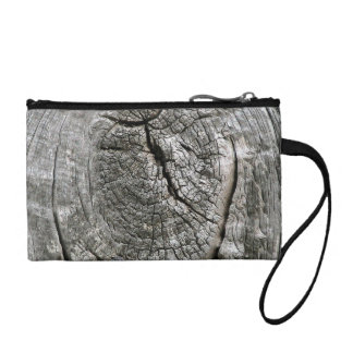Weathered barn wood with knot coin purse
