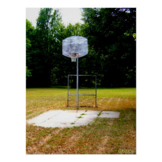 Weathered Basketball Court Poster