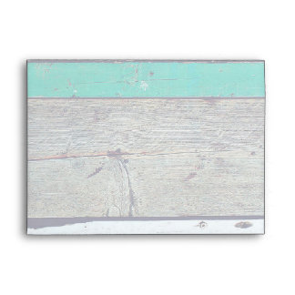 Weathered Beach Plank Rustic Seashore Envelope