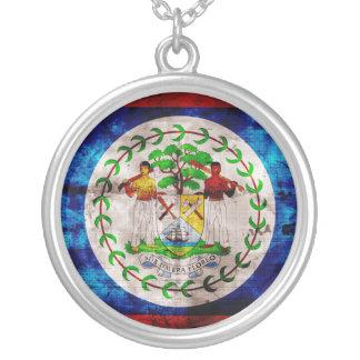 Weathered Belize Flag Custom Necklace