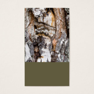 Weathered birch trunk business card