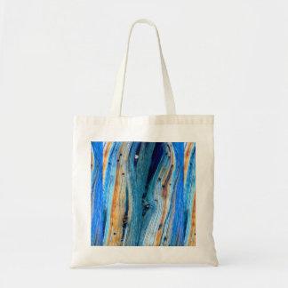 weathered blue barn board tote bag