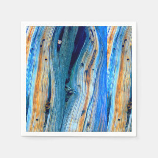 weathered blue  barn boards paper napkin