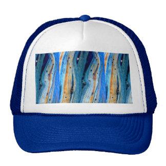 weathered blue barnwood trucker hat