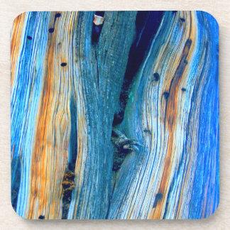 weathered blue rustic barn boards beverage coaster