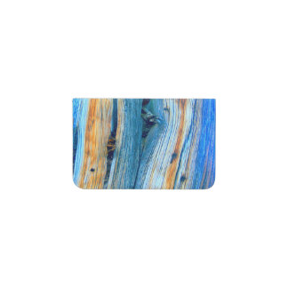 weathered blue wood Thunder_Cove Business Card Holder