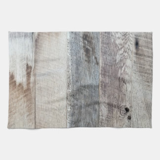 Weathered Boards Wood Plank Background Texture Hand Towel