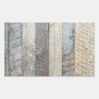 Weathered Boards Wood Plank Background Texture Rectangular Sticker