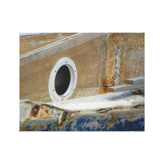 WEATHERED BOAT 3 Wrapped Canvas