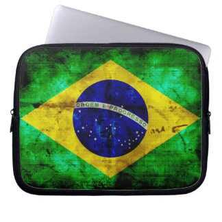 Weathered Brazil Flag Computer Sleeve