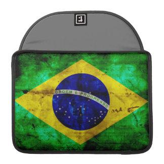Weathered Brazil Flag MacBook Pro Sleeve