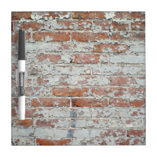 Weathered Brick Wall Dry-Erase Board