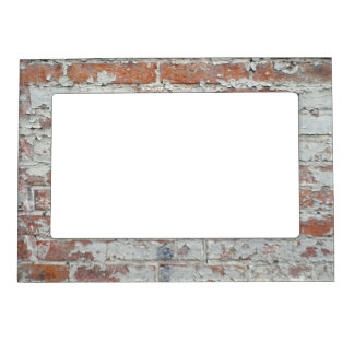 Weathered Brick Wall Magnetic Frame