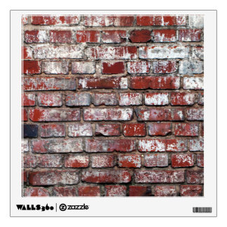 Weathered Brick Wall Pattern Wall Decal Part 37