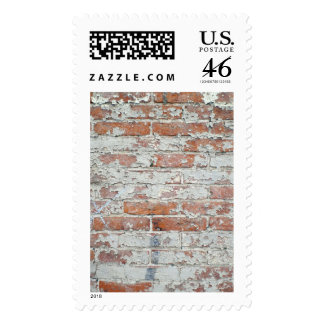 Weathered Brick Wall Postage Stamps